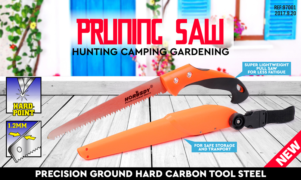 New Folding Garden Saw Stainless Steel Hand Pruning Tree Branches Camping Blade