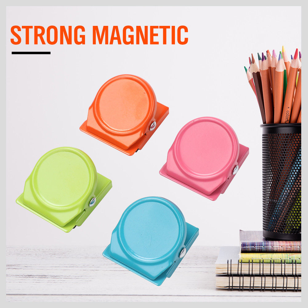 Colorful Magnetic Clips Refrigerator Magnet Wall Memo Note Message Holder Fridge