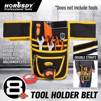 New Tool Construction Belt Nail Storage 8 Pocket Bag Tool Holder Heavy Duty