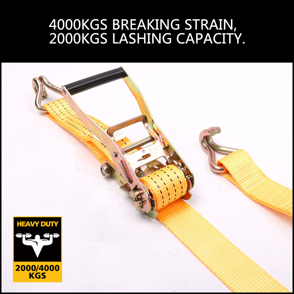 New Tie Down Strap 50mm X 10m 2000kg Heavy Duty Ratchet Straps Trailer Boat Horusdy