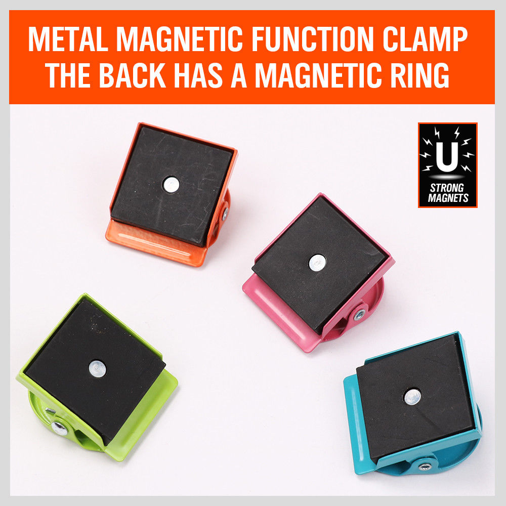 Colorful Magnetic Clips Refrigerator Magnet Wall Memo Note ...