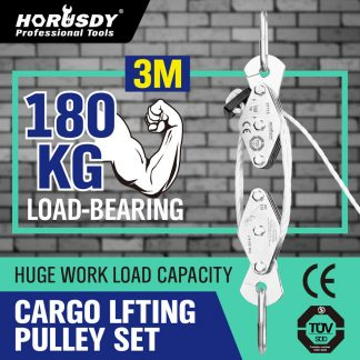 Cargo Lifting Rope Winch Hoist Pulley Set