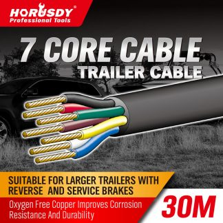 30M X 7 Core Wire Cable Trailer Cable Automotive Boat Caravan Truck Coil V90 PVC