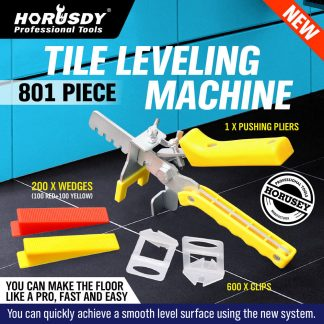 8011301Pc Tile Leveling System Kit Clips Wedges Plier Floor Tiling Spacer Tool