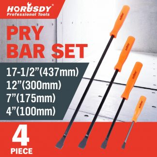Horusdy 4Pcs Pry Bar Set Heavy Duty Mechanic Crowbar Car Tool 4 7 12 17-12