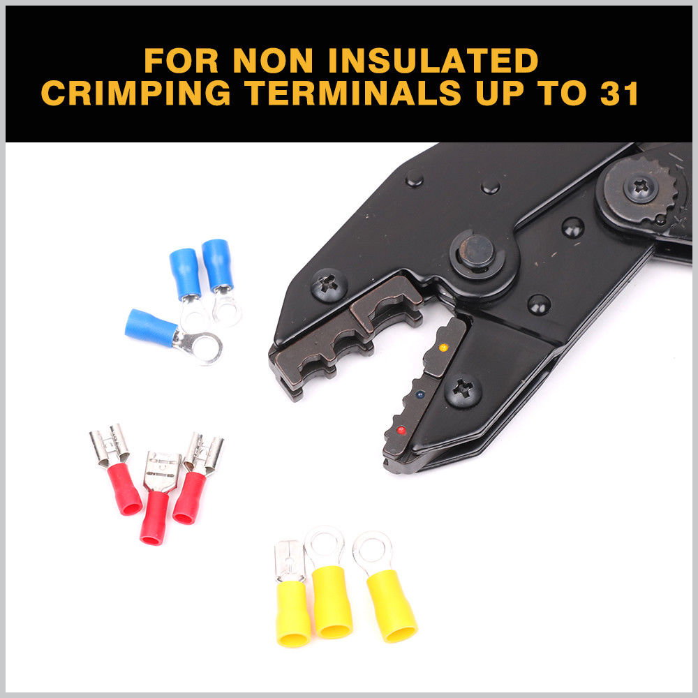 Cable Crimper Wire Ratchet Crimping Plier Ferrule Terminal Electrician Tool