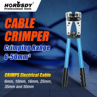 6-50 mm² Wire Crimper Cable Crimp Electric Tube Crimping Hand Tool Battery Lug