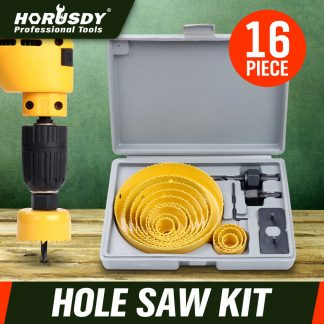 New 16Pc Holesaw Kit Circle Wood / Timber Cutter Round Plaster Hole Saw 19-127mm