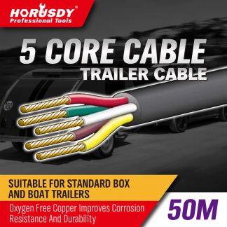 5 Core Trailer Cable 50M Automotive Boat Caravan Truck