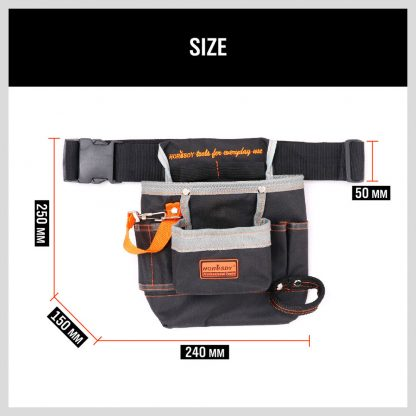 Electricians Electrical Tool Pouch Holder Case Storage Tool Holder Bag Polyester
