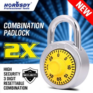 2PC Combination Padlock Security 3 Pin Steel Travel Luggage Bag Bike Code Lock