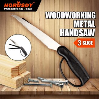 3in1 Folding Hand Saw Multi Purpose Timber & Metal Cutting Pruning Board Branch