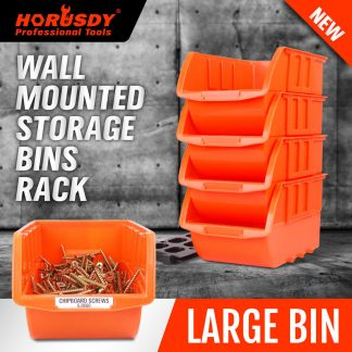 Wall Mounted Bins Rack Storage Parts Organiser