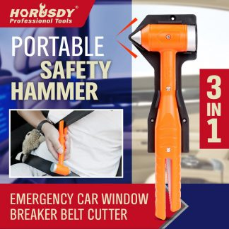 3 IN1 Emergency Hammer Window Breaker Belt Cutter Car Auto Safety Escape Tool