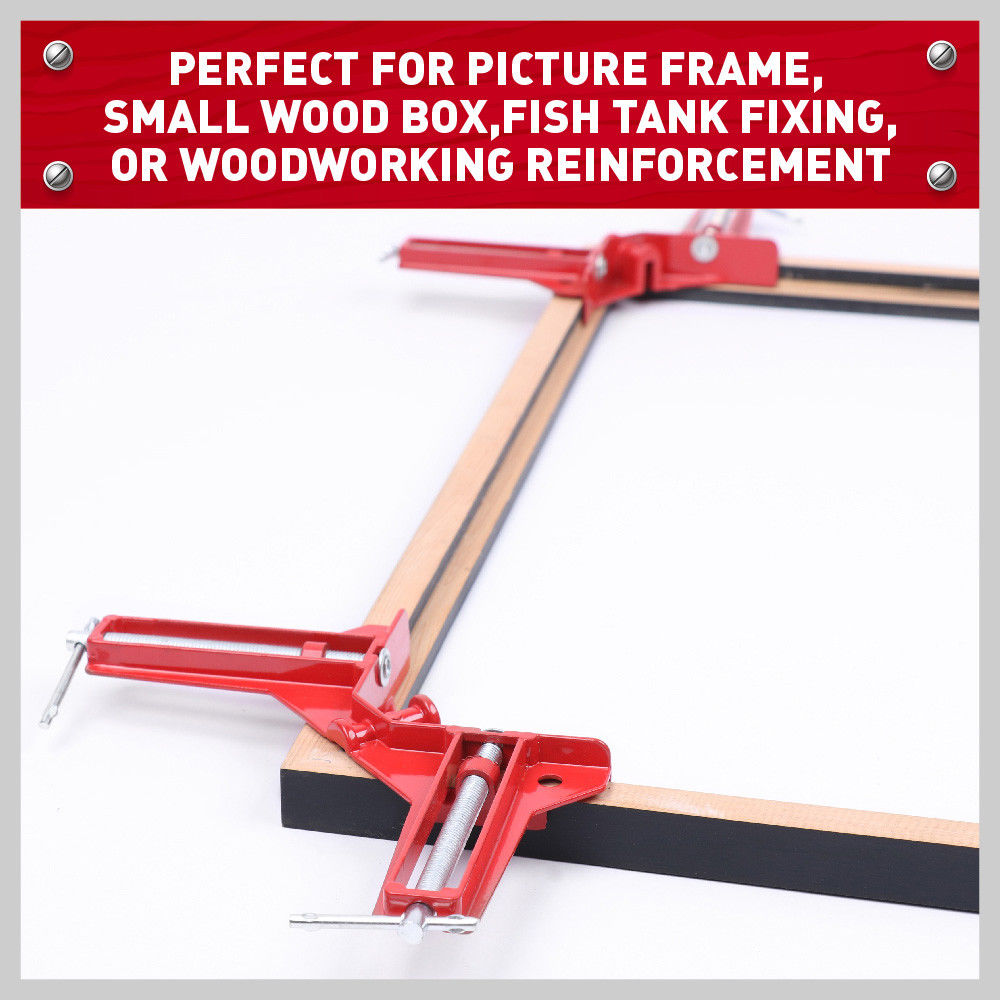 4Pc 90 Degree Right Angle Miter Corner Clamps Frame Holder Timber ...