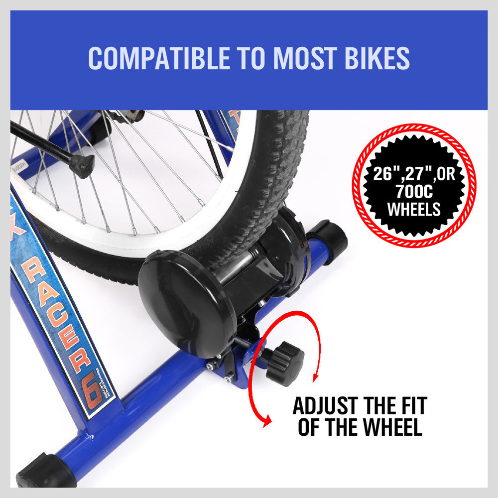 Indoor Bicycle Trainer Rollers Stationary Magnetic Stand Cycling Home Training