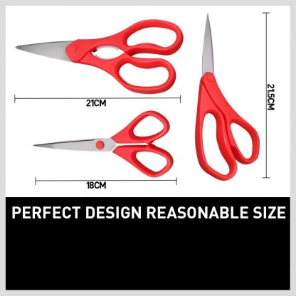 3pc Kitchen Shears Stainless Multi Scissors Steel Poultry Fish Chicken Craft New