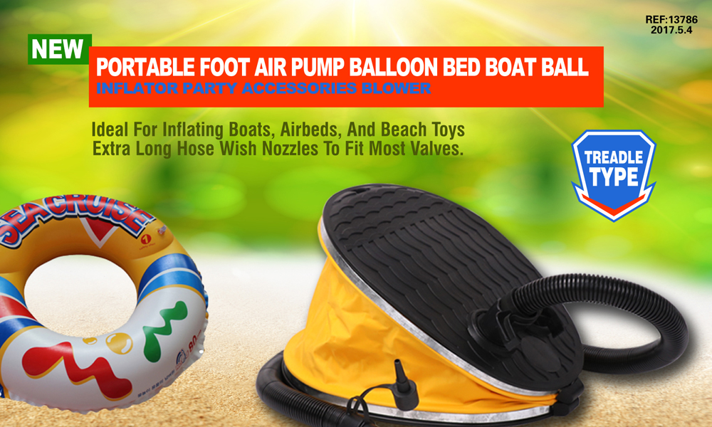 Portable Foot Air Pump Balloon Bed Boat Ball Inflator Party Blower