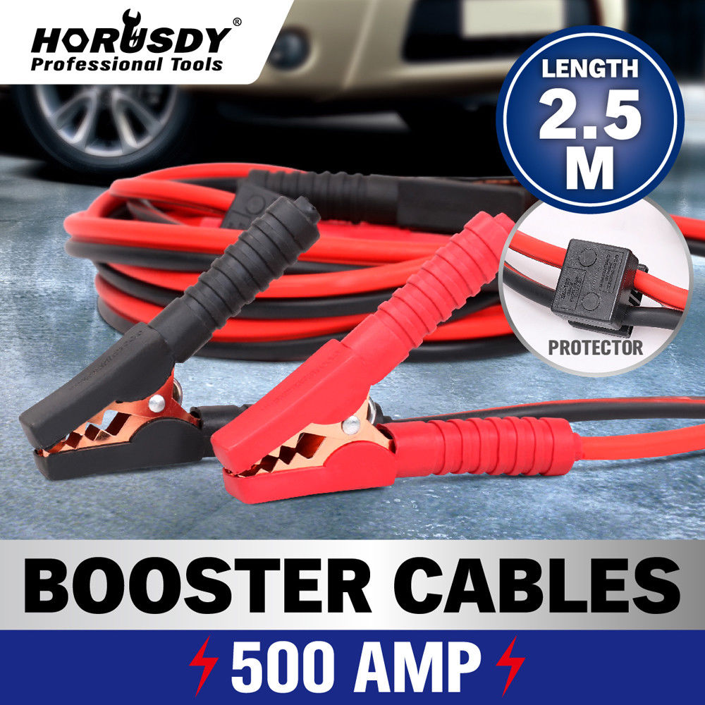 500AMP Jump Leads Surge Protected Jumper 2.5M Car Booster Cables