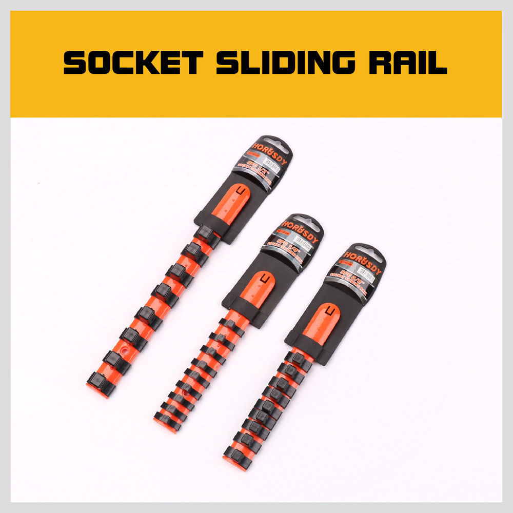 "Mixed Socket Rail Storage Set 1/2"" 3/8"" 1/4"" Drive Holder Grip Organiser"