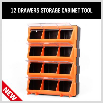12 Compartment Storage Cabinet Tool Box Bin Chest Case Organiser