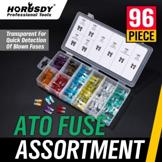 96 Medium Blade Fuse Kit Auto Car Assortment Standard Vehicle Fuses Set 3A-30A