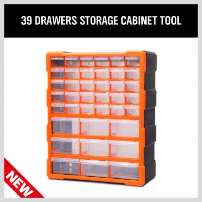 39 Drawers Storage Cabinet Tool Box Bin Chest Case Plastic Organiser