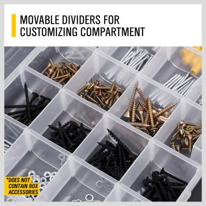 24 Compartment Tool Nut Bolt Fishing Lures Tackle Jewelry Storage Box