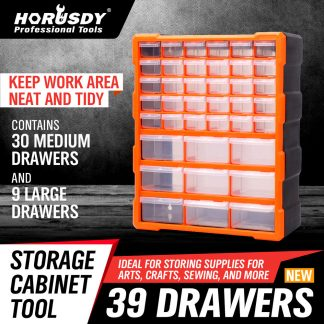 39 Drawers Storage Cabinet Tool Box Bin Chest Case Plastic Organiser Divider
