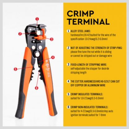 400 Electrical Wire Terminal Connectors and Stripper Pliers Cutter Crimper