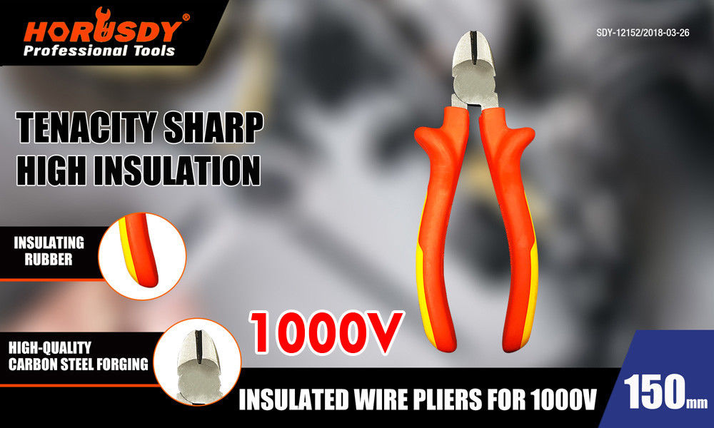 170mm 1000V Insulated Pliers Electrician Side Cutter Wire Cable Cutting
