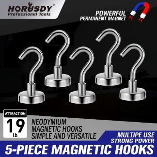 5-20 Piece Strong Magnetic Hooks Neodymium Magnet Hanger Holder
