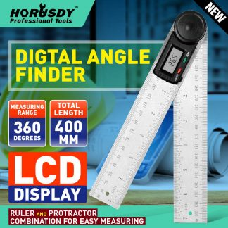 200mm Digital Angle Finder Ruler Protractor Measure Meter Stainless Steel