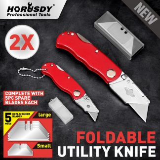 2-Piece Folding Utility Knife Aluminium Handle 10 Spare Stanley Blades
