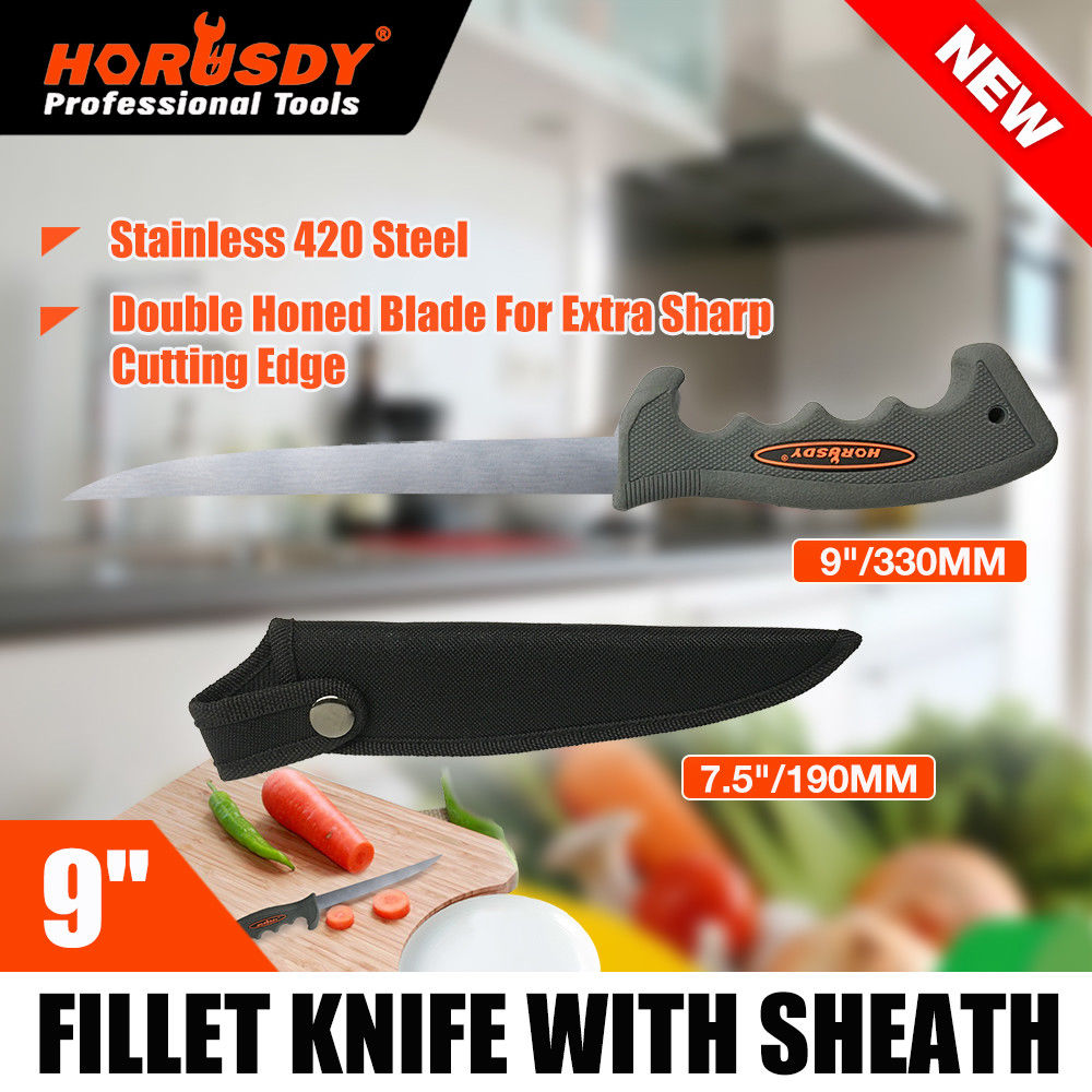 """9"""" Fishing Knife Stainless Steel Diving Hunting Fish Filleting Blade"""