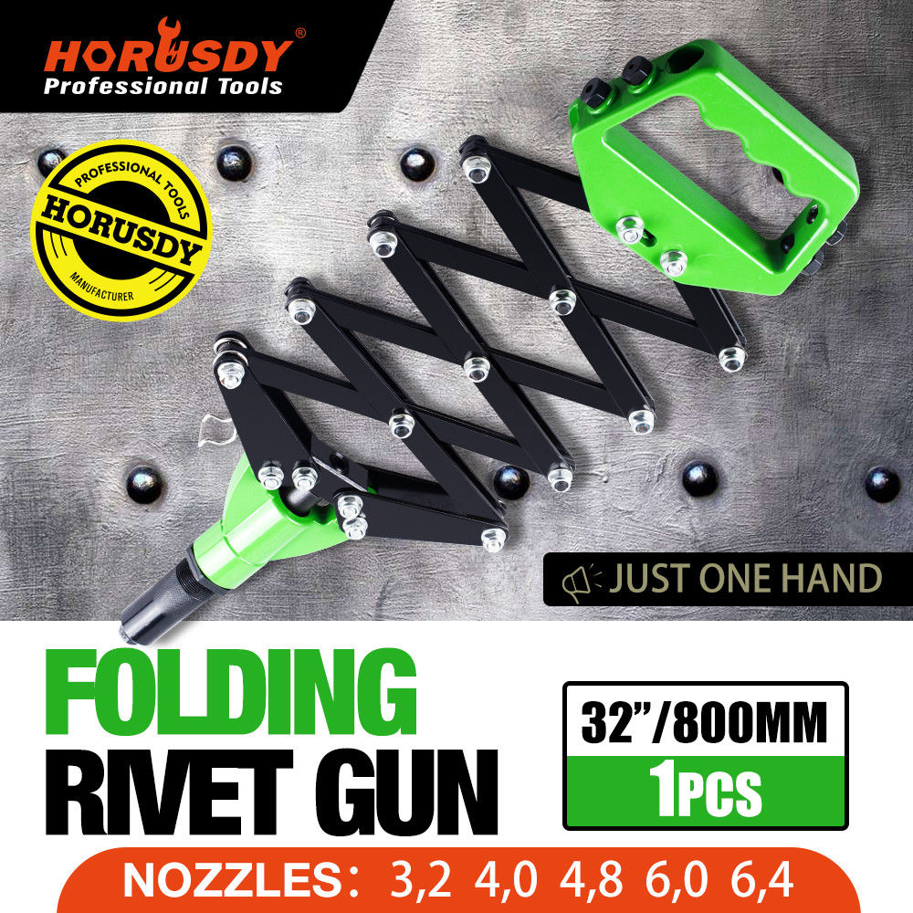 Folding Pop Rivet Gun Lazy Tong Riveting Tool Scissor Riveter