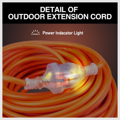 15M-25M Power Extension Lead 10AMP Cable Cord LED Indicator