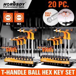 20-Piece L-Handle Hex Allen Key Set Imperial Metric Wrench 2mm-10mm