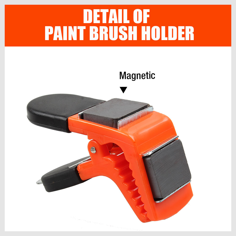Magnetic Paint Brush Holder Clip Clamp Tin Can Opener