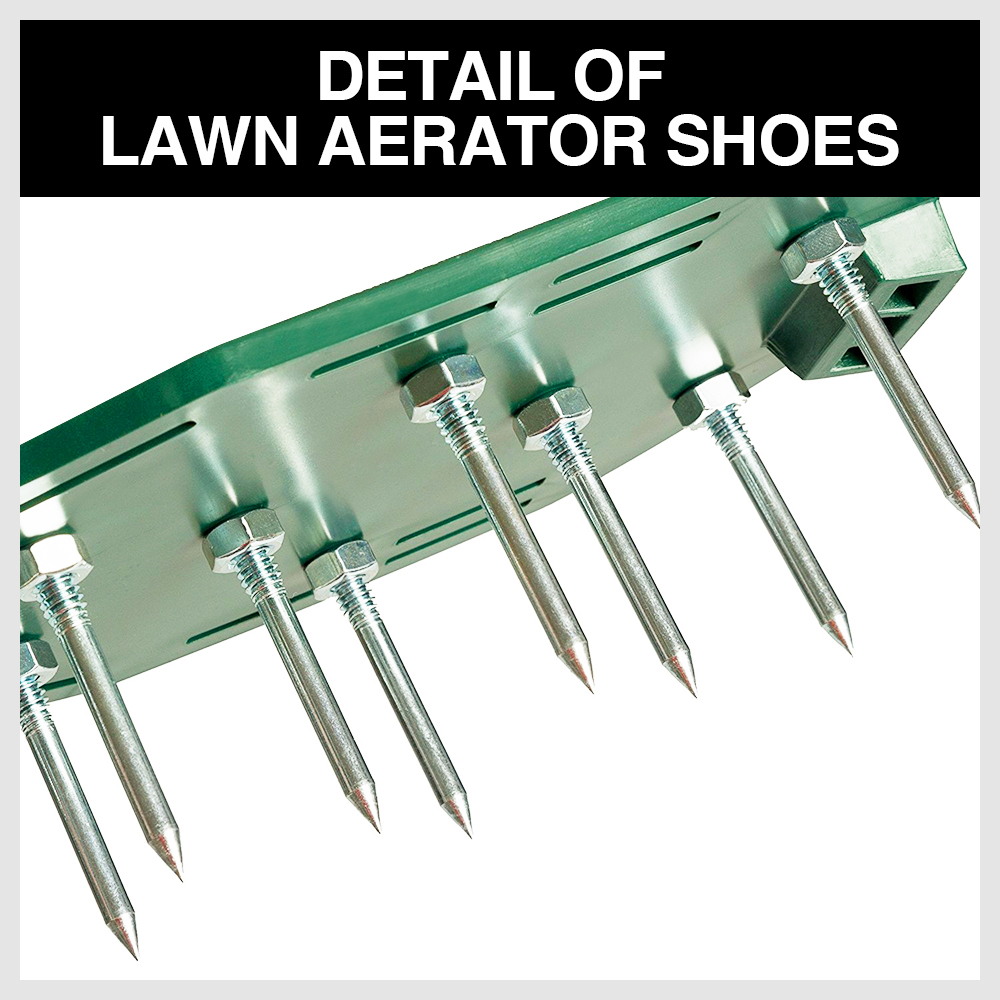 Garden Lawn Aerator Spike Spiked Shoes Triple Bulk Stramps Seeding