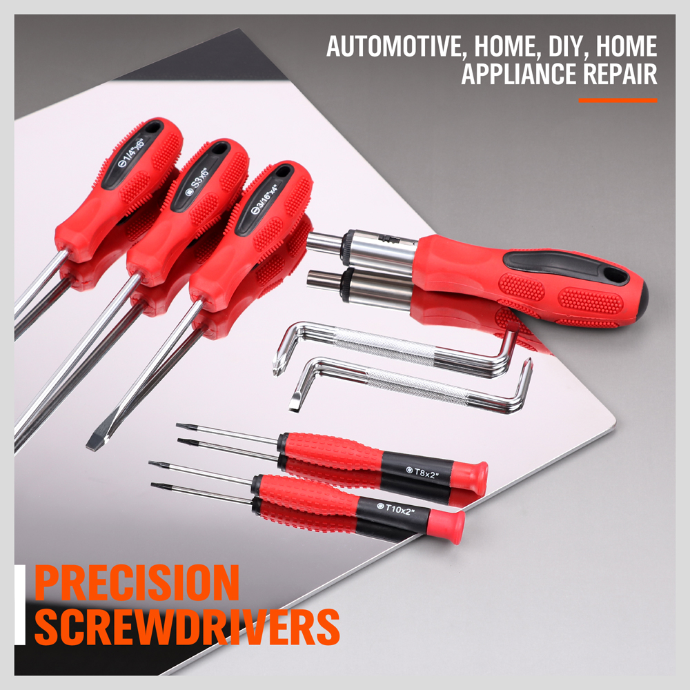 Magnetic Screwdriver Set 100-Piece Power Socket Nut Driver Bits Ratchet