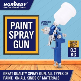 Gravity Mini HVLP Spray Gun 0.8mm Air Nozzle Painting Sprayer
