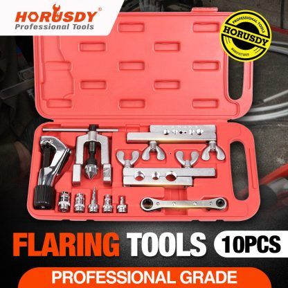 10-Piece Flaring Tool Kit Tube Expander Pipe Cutter Refrigeration Copper