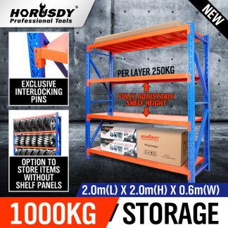2m x 2m Steel Racks Shelves Garage Storage Warehouse Tyre Shelving