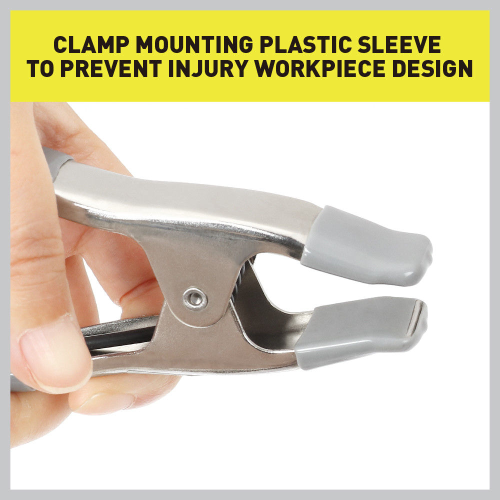 100mm Spring Clamps Clips Set Heavy Duty Steel Rubber Grip